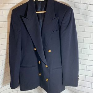 Austin-Reed Navy Double Breasted Blazer Size 8